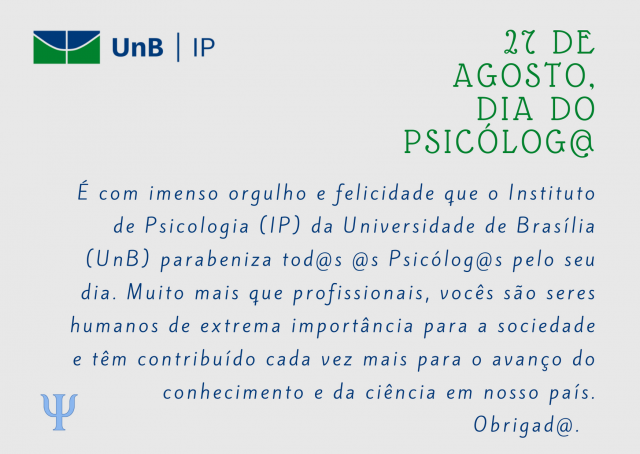 dia do psicologo - ip unb